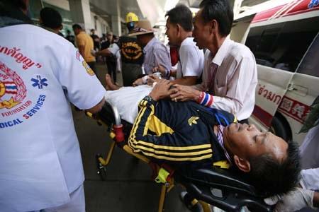 Một người biểu tình Thái Lan bị thương trong ngày 19/