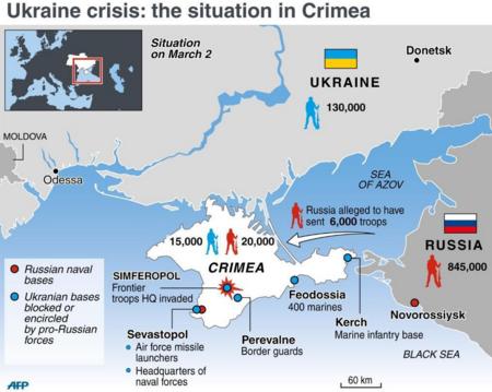 Crimea có vị trí quan trọng chiến lược trong khu vực