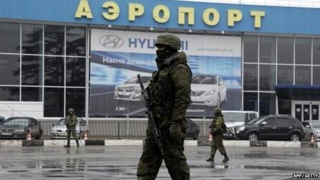 Các binh sỹ Nga được cho là đã kiểm soát các địa điểm nhạy cảm tại Crimea