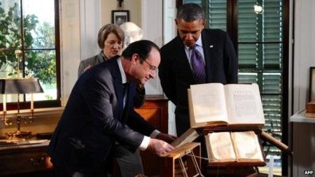 Ông Hollande và ông Obama tới thăm dinh thự của cố Tổng thống Jefferson