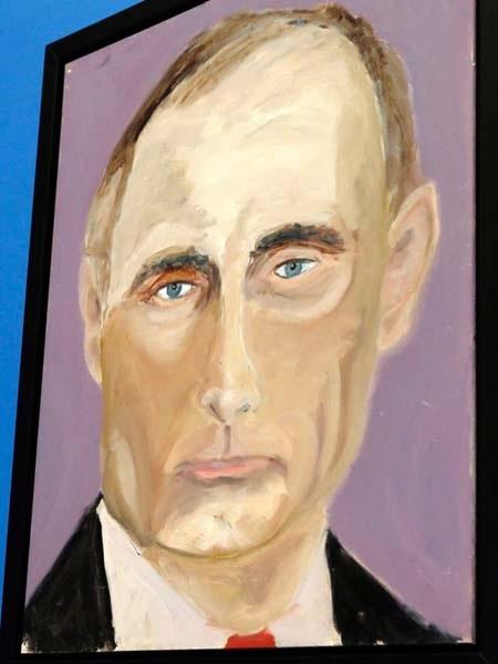Bức tranh của ông Bush vẽ Tổng thống Nga Putin