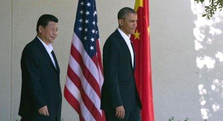 Chủ tịch Trung Quốc Tập Cận Bình (trái) và Tổng thống Mỹ Obama
