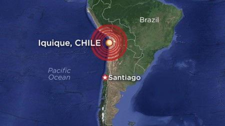Bản đồ khu vực tâm chấn của động đất