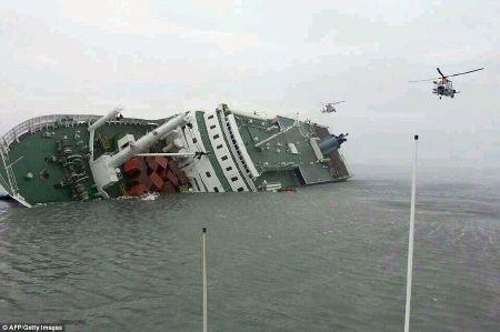 30 phút sau khi liên lạc với đất liền, tàu Sewol mới phát lệnh di tản