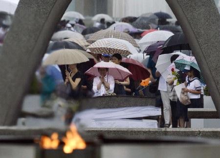 Khoảng 45.000 người đã tham dự buổi lễ tại Hiroshima sáng 6/8