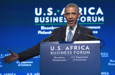 Tổng thống Mỹ Obama phát biểu tại diễn đàn kinh tế Mỹ - châu Phi