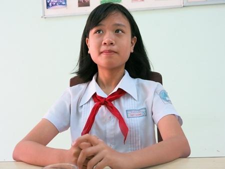 Thùy Dương chia sẻ: Em thích học Văn vì được thỏa sức sáng tạo.
