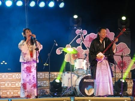 Các tiết mục nghệ thuật của các nghệ sỹ Nhật để lại nhiều ấn tượng trong đêm khai mạc