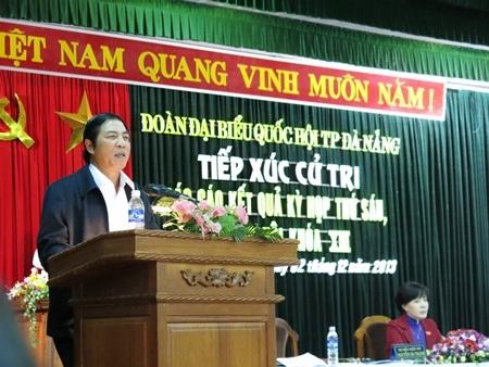 Trưởng Ban Nội chính TƯ Nguyễn Bá Thanh tiếp xúc cử tri Q.Sơn Trà, Đà Nẵng chiều 2/12
