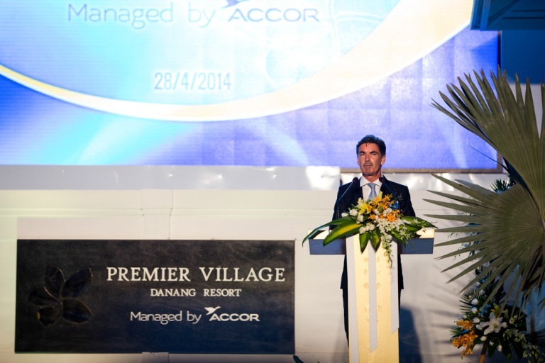Các đại biểu dự lễ khai trương Premier Village Danang Resort