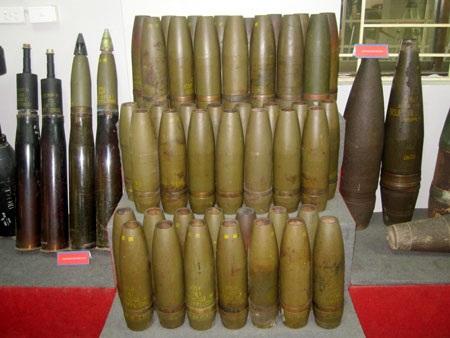 Và rất nhiều loại bom đạn khác mà quân đội nước ngoài đã sử dụng để