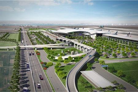 Nhà ga T2 Cảng Hàng không Quốc tế Nội Bài khi hoàn thành