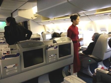 Tiếp viên đã phát hiện và kịp thời xử lý nhiều vụ trộm đồ, móc túi trên máy bay