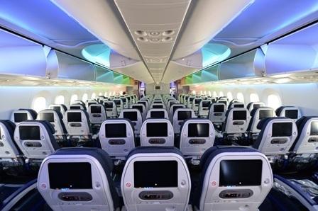 Khoang khách của máy bay Boeing 787