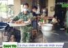 Bộ đội nấu cơm phục vụ các công dân đang bị cách ly