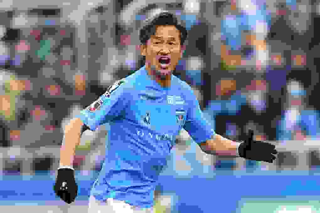 Tiền đạo Miura đi vào lịch sử bóng đá thế giới