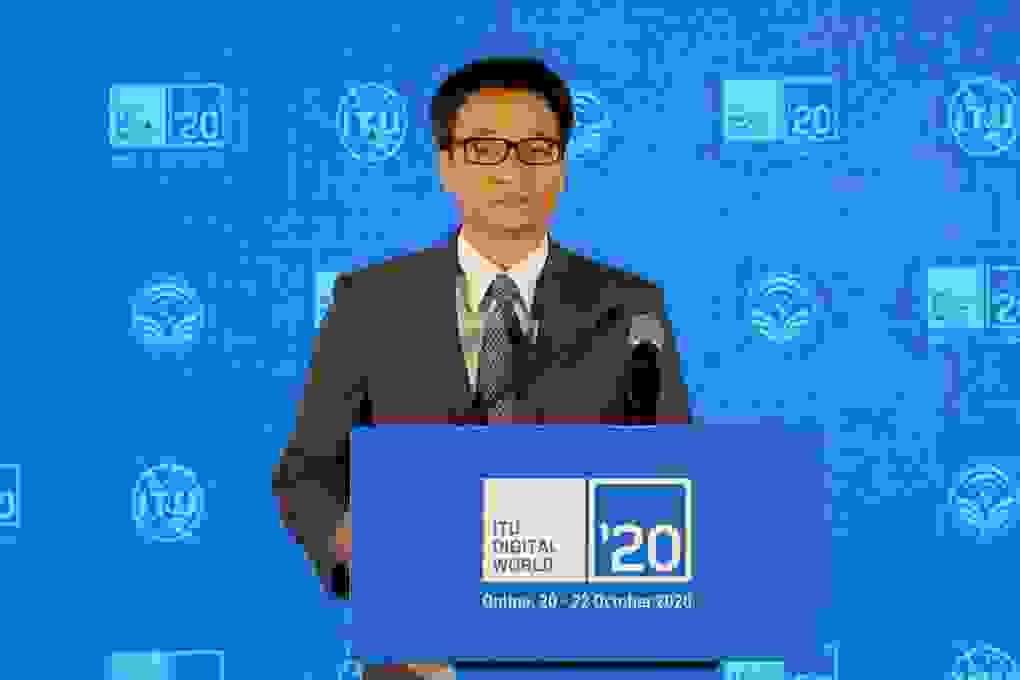 Phó Thủ tướng Vũ Đức Đam nhấn nút khai mạc Hội nghị ITU Digital World 2020