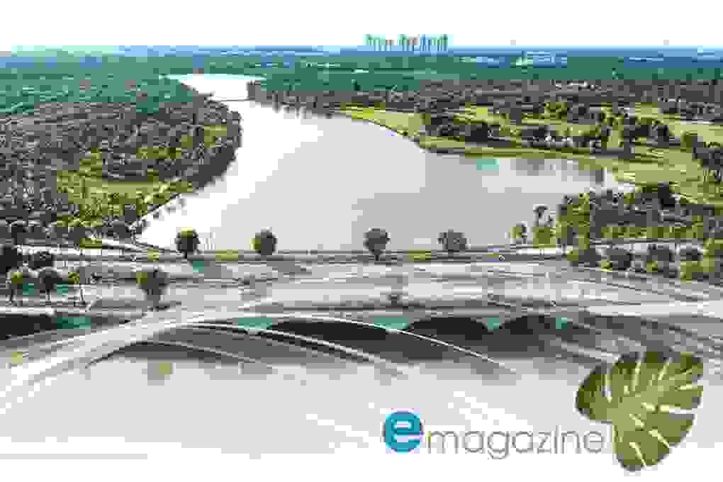 Thành phố triệu cây xanh Ecopark nhìn từ camera bay