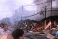 Vụ cháy hàng trăm ki ốt chợ Còng: Chủ đầu tư làm đơn tố giác tội phạm