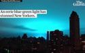 Dân Mỹ hoảng loạn khi trời đêm bất ngờ chuyển màu xanh