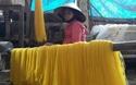 """Bình Định: Làng bún bên bờ sông Kôn """"tăng nhiệt"""" đón Tết"""