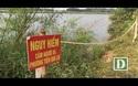 Bờ sông Thạch Hãn bị sạt lở nghiêm trọng.