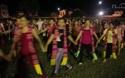 Người dân tập luyện cho màn đại Xoè 5000 người trong Lễ hội Mường Lò