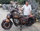 Chiêm ngưỡng chiếc mô tô bằng gỗ độc nhất vô nhị ở Lâm Đồng
