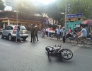 Xế hộp của diễn viên Thân Thúy Hà gặp nạn trên phố Sài Gòn