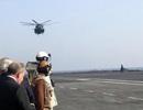 Bộ trưởng Quốc phòng Mỹ lần đầu thăm tàu sân bay Pháp