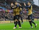 Hạ gục Aston Villa, Arsenal giành ngôi đầu bảng