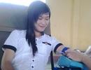 Nữ sinh Bạc Liêu hăng hái hiến máu tình nguyện