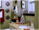 Nhà tắm vui nhộn với phong cách Giáng sinh