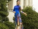 Ngọc Hân nền nã với áo dài trên đất Mỹ