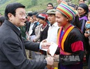 Chủ tịch nước Trương Tấn Sang khảo sát mô hình làng văn hóa du lịch cộng đồng