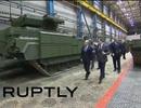 Ông Putin kiểm tra xe bọc thép phát triển từ tăng Armata