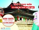 """Tháng 11 du lịch Hàn Quốc với """"Thứ sáu may mắn"""""""