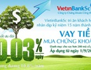 VietinBankSc giảm lãi suất giao dịch ký quỹ còn 0,03%/ngày