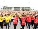 Ngoạn mục 12.000 bạn trẻ Thủ đô xếp hình cờ Tổ quốc
