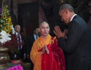 Tổng thống Obama thăm ngôi chùa cổ ngay khi đến Sài Gòn