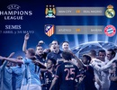 Man City đối đầu Real Madrid ở bán kết Champions League