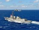 Tàu chiến, máy bay Trung Quốc bám đuổi tàu Mỹ tuần tra Biển Đông