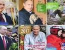 Hình ảnh Putin ôm mèo lên lịch 2017