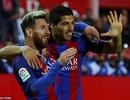 Messi và Suarez giúp Barcelona ngược dòng hạ Sevilla
