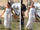 Angelina Jolie gầy xác xơ tại phim trường