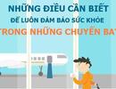 """[Infographics] - """"Cẩm nang vàng"""" chống mỏi mệt trong những chuyến bay"""