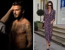 David Beckham khoe thân sáu múi, Victoria trẻ trung với họa tiết hoa