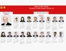 Infographic: 19 Ủy viên Bộ Chính trị và 3 thành viên Ban Bí thư khóa XII
