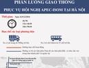 Sơ đồ phân luồng giao thông phục vụ Hội nghị APEC-ISOM tại Hà Nội