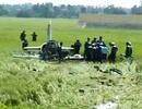 Hiện trường đầy mảnh máy bay L39 rơi ở Phú Yên
